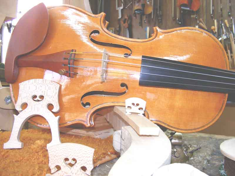 Brand new hand carved violin